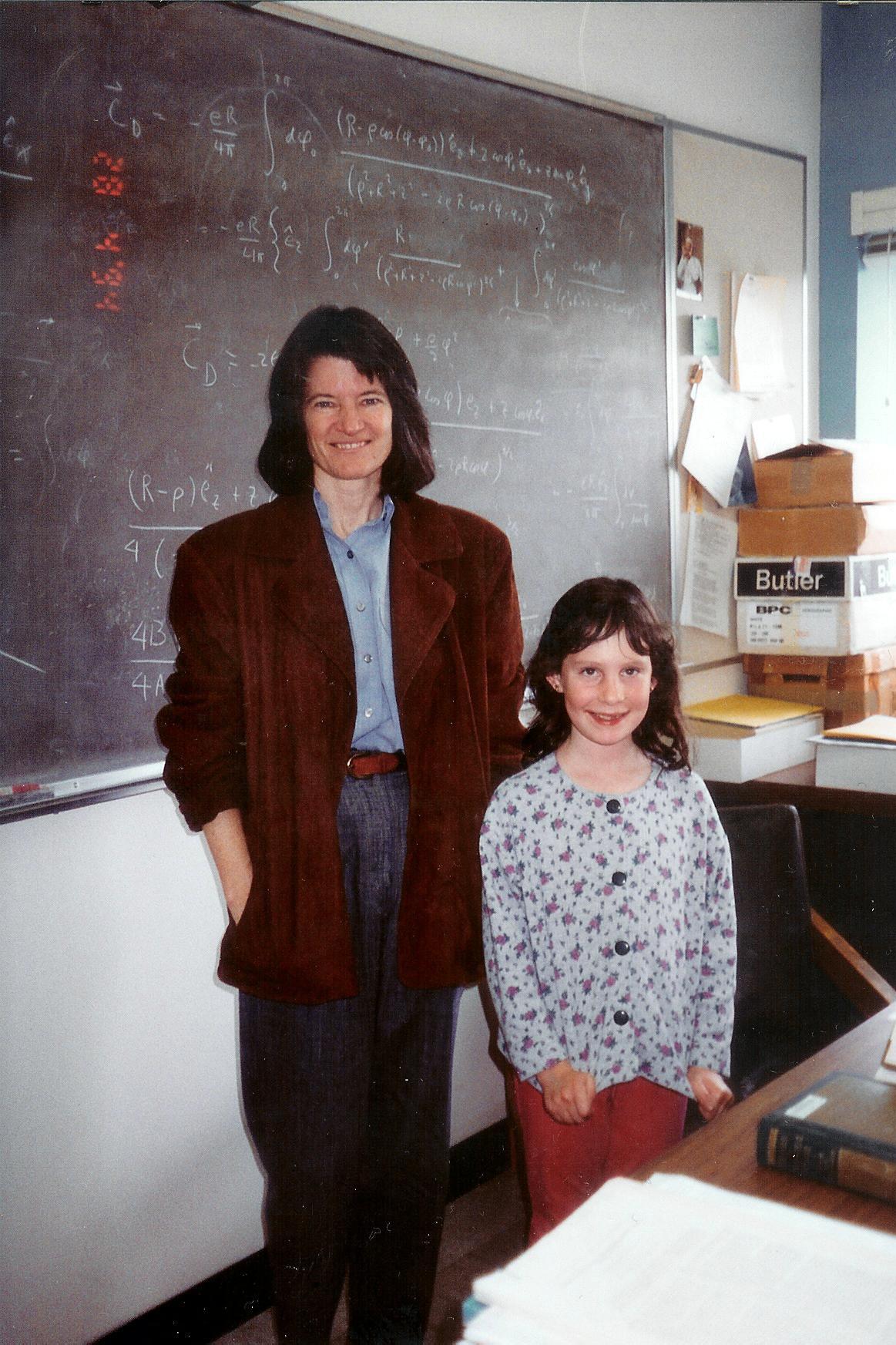 Sally Ride and Carina Preskill at Caltech, 28 April 1994.