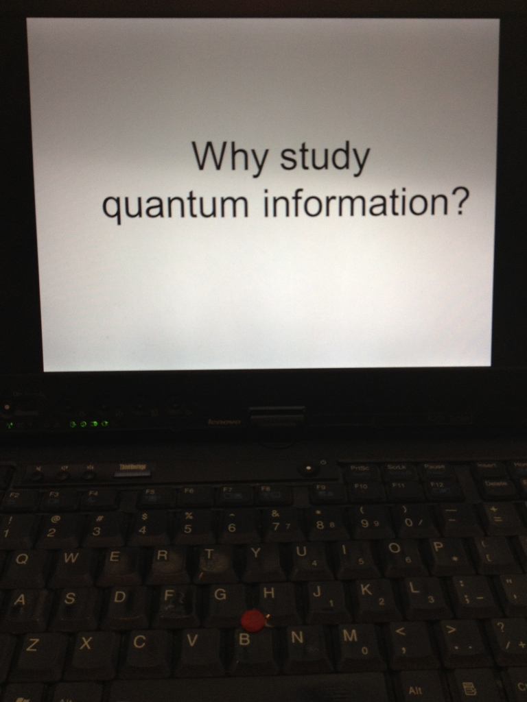First slide, viewed on my laptop.