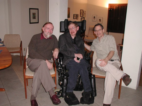 With Kip Thorne and Stephen Hawking, 2005.