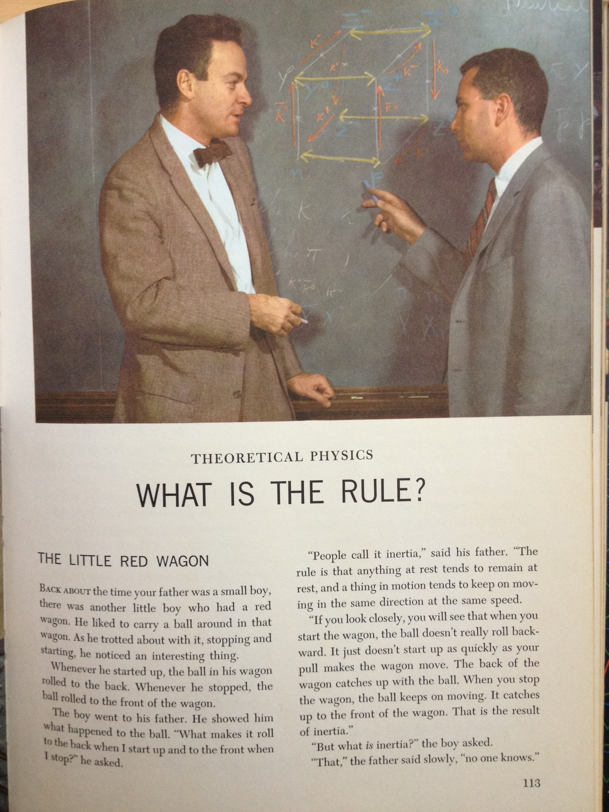 First page of the section on theoretical physics. Who's the guy in the bow tie?
