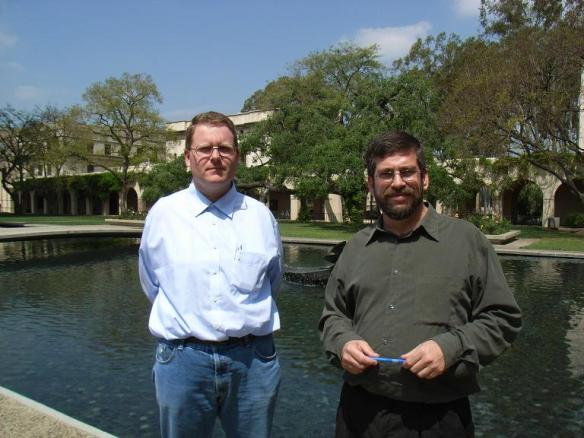 Rudi Pfeiffer and Mike Gottlieb at Caltech in 2008.