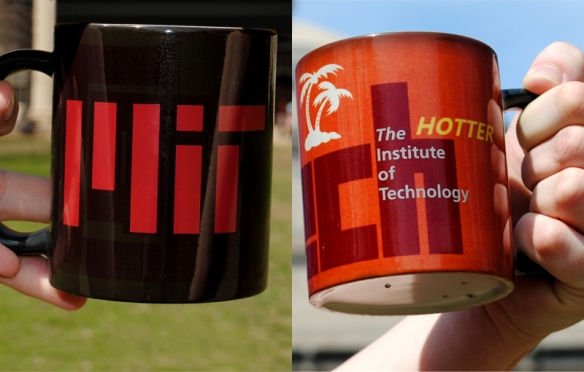 Caltech students visited MIT bearing some clever gifts.