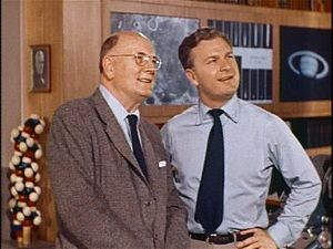 Dr. Frank Baxter and Eddie Albert in Our Mr. Sun.