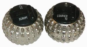 IBM Selectric typeballs