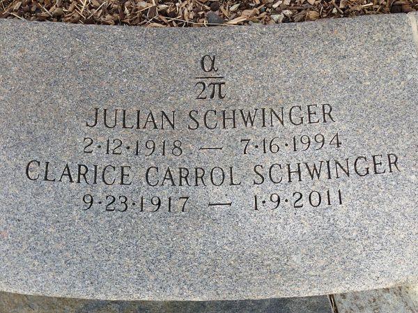 Schwinger headstone