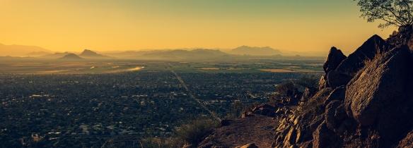 Camelback Mountain overlooking Phoenix, AZ