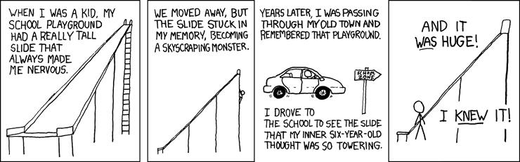 A quantum walk down memory lane